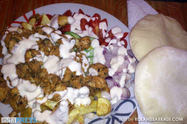 Recept: Gyros tál házi fűszerezéssel, főételnek, vacsorának