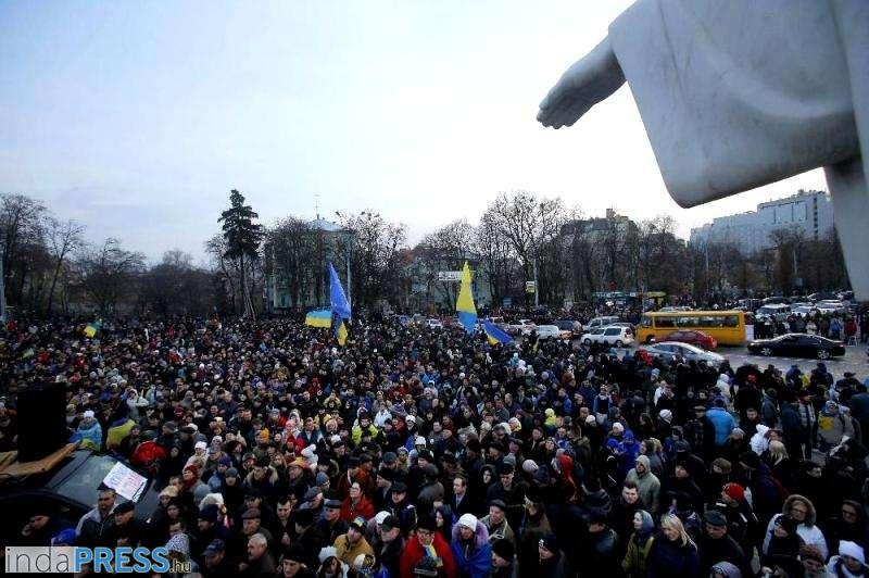 Elfoglalták a városházát Kijevben. Ukrajna