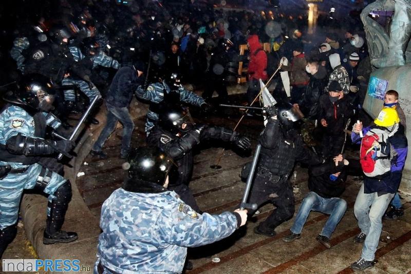 Eu tüntetés - Kijev, Ukrajna