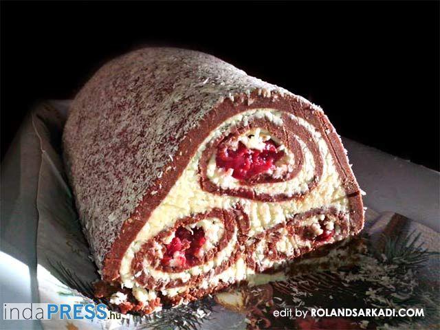 Recept: Keksz tekercs meggyel-Sütés nélküli-mutatós és nagyon finom!