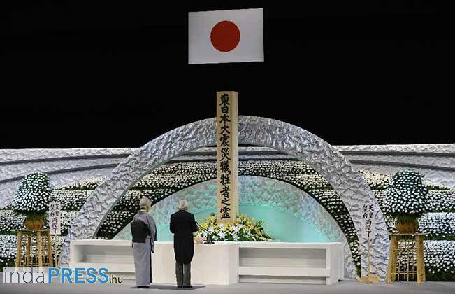 Megemlékeztek a Japán atomerőmű, szökőár és földrengés áldozatairól