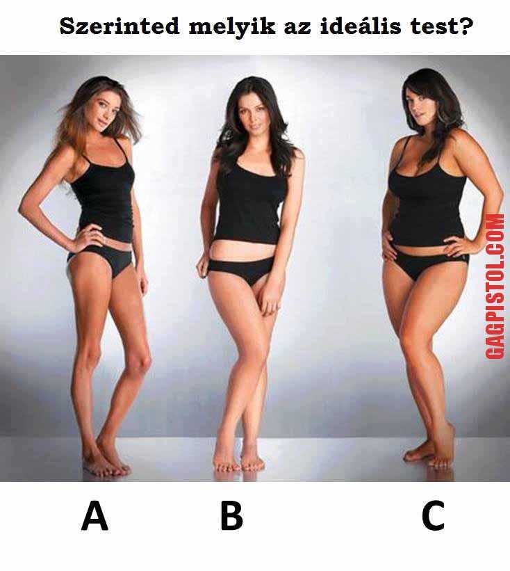 Szerinted melyik az ideális test?