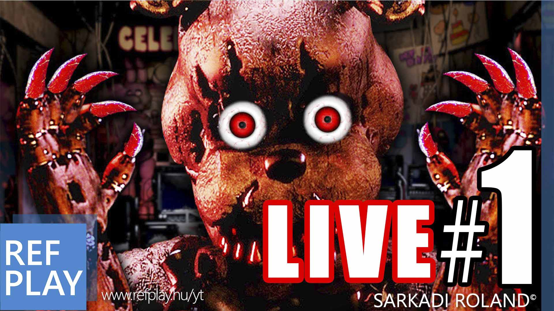 ESTI HORROR MESÉK! | Five Nights At Freddys 4 #1 LIVE RAGE | MAGYAR GAMEPLAY