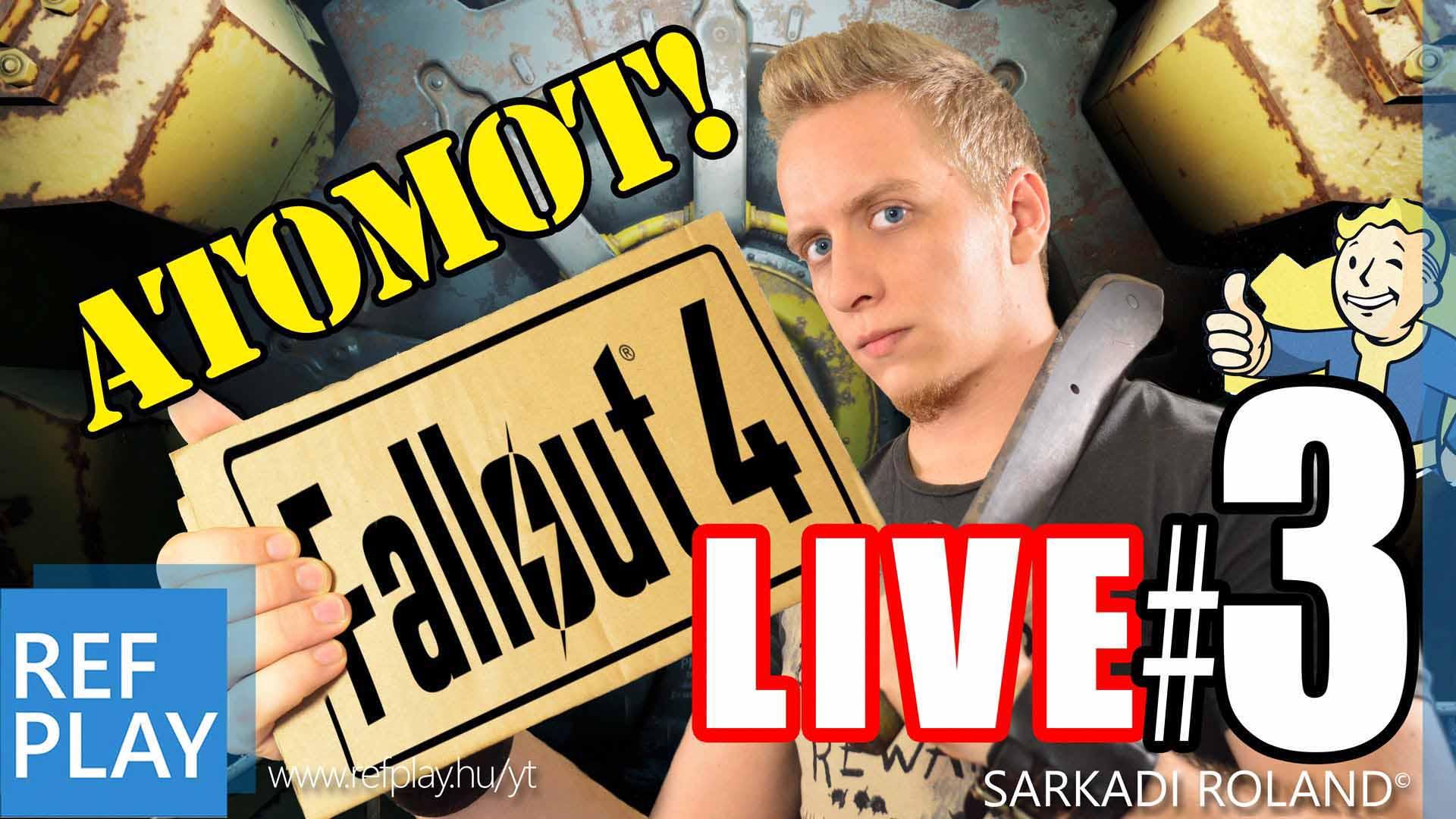LIVE – FALLOUT 4 3.rész | Magyar végigjátszás