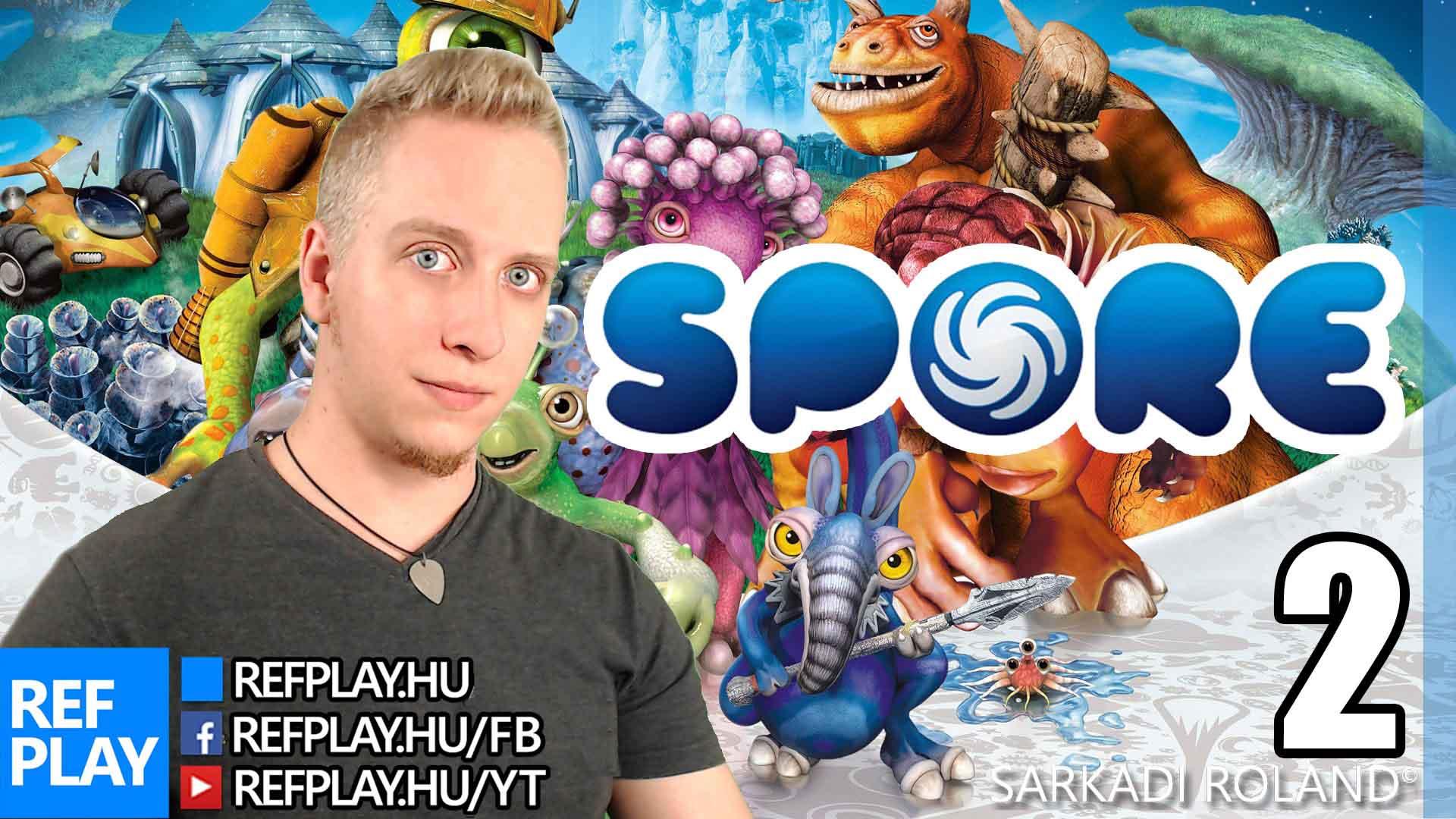 CUKI LIVE B*MEG | Spore #2 | Magyar gameplay | REFPLAY