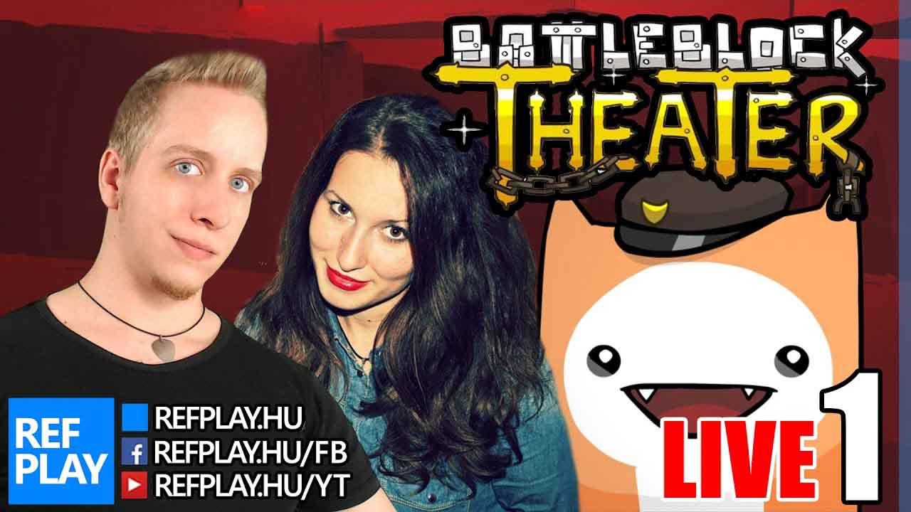 MERCI CSAJ + Nyeremény | Battleblock Theater #1 | Magyar gameplay | REFPLAY