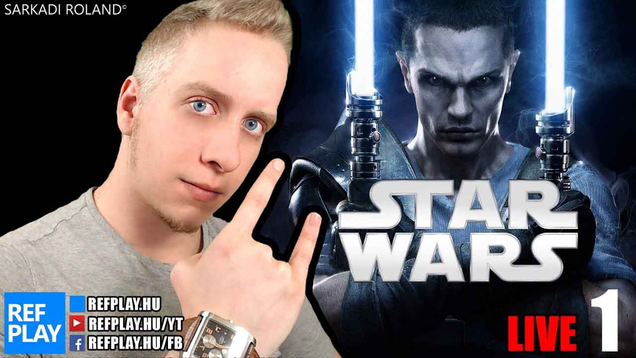 ÉLŐ🔴 Az utolsó Jedi film előtt | The Force Unleashed magyar végigjátszás #1 | REFPLAY