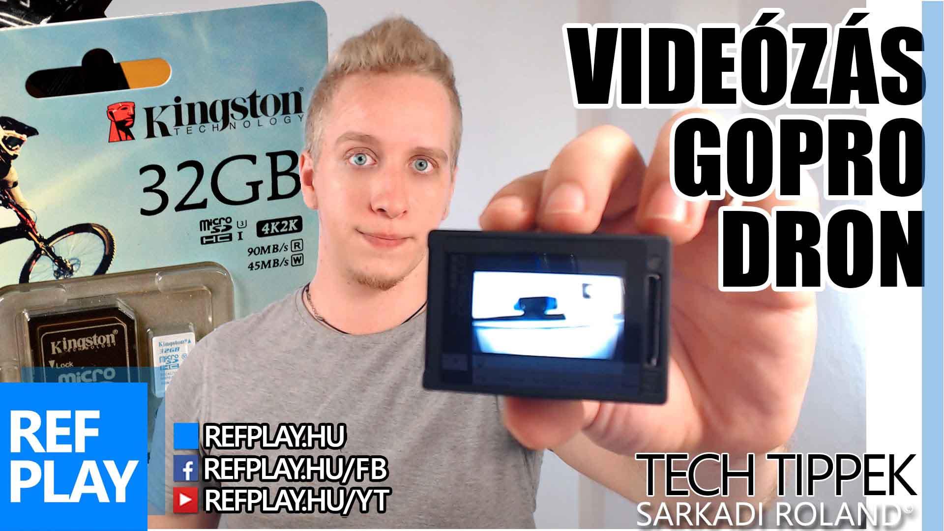 GOPRO, DRONE és VIDEÓSOKNAK memóriakártya! | Kingston SDCAC microSD | TECH TIPPEK | REFPLAY